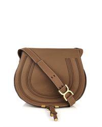 Chloé - Brown Marcie Medium Calf-Leather Cross-Body Bag - Lyst