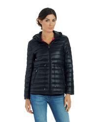 DKNY - Black Packable Jacket - Lyst