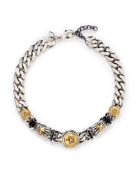 Iosselliani | Metallic Star Medallion Chunky Curb Chain Necklace | Lyst