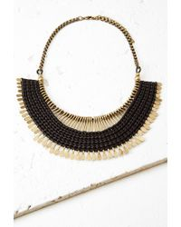 Forever 21 | Black Threaded Matchstick Statement Necklace | Lyst