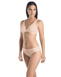 Hanro | Pink Cotton Seamless Soft Cup Bra | Lyst
