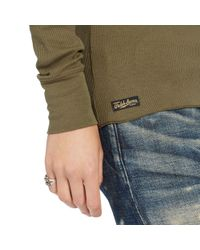 Polo Ralph Lauren - Green Cotton Long-sleeved Henley - Lyst
