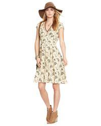 Denim & Supply Ralph Lauren | Natural Floral-print Cutout Dress | Lyst