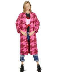 House of Holland | Pink Gingham Coat | Lyst