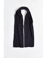 Urban Outfitters - Blue Ticking Stripe Oblong Scarf for Men - Lyst