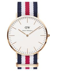 Daniel Wellington - Blue 'classic Canterbury' Nato Strap Watch - Lyst