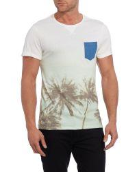 Blend - White Plain Crew Neck Regular Fit T-shirt for Men - Lyst