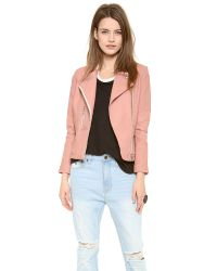 IRO - Pink Efia Leather Jacket - Lyst