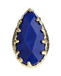 ASOS - Blues Cocktail Ring - Lyst