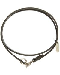 Ann Demeulemeester | Black Leather Wrap Bracelet | Lyst