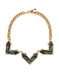Lulu Frost - Multicolor 'petra' Mosaic Arrow Statement Necklace - Lyst