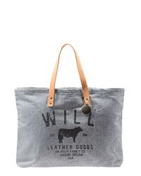 Will Leather Goods | Gray 'small Classic' Tote | Lyst