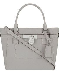MICHAEL Michael Kors | Gray Hamilton Medium Saffiano Leather Tote | Lyst