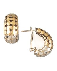 John Hardy | Metallic Mixed Metal Buddha Belly Earrings | Lyst