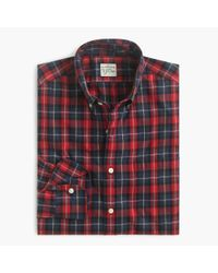 J.Crew | Slim Secret Wash Shirt In Deep Blue Tartan for Men | Lyst