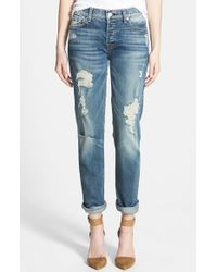7 For All Mankind | Blue 'Josefina' Boyfriend Jeans | Lyst