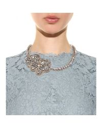 Valentino | Metallic Crystal-embellished Satin Necklace | Lyst