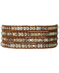 Chan Luu | Multicolor 32' Aqua Terra Crystal Wrap Bracelet | Lyst