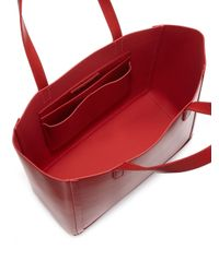 Loeffler Randall - Red Leather Open Tote - Lyst