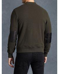 John Varvatos - Green Fleece Lined Zip Front Jacket for Men - Lyst