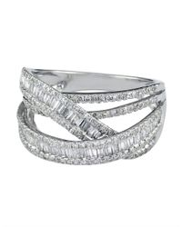 Effy | Metallic Diamond And 14k White Gold Ring, 1.13 Tcw | Lyst