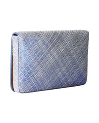 Lodis | Blue Sophia Cross Hatch Mini Card Case | Lyst
