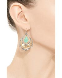 Arman Sarkisyan | Green Chrysoprase and White Diamond One Of A Kind Peacock Earrings | Lyst