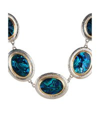 Gurhan | Blue Women's Paua Shell 24k Gold Plated Sterling Silver Necklace | Lyst