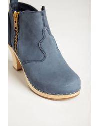 Swedish Hasbeens - Blue Shipwright Clog Booties - Lyst