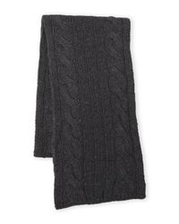 Original Penguin - Gray Cable Knit Scarf for Men - Lyst