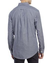 Izod | Blue Stripe Patch Pocket Sport Shirt for Men | Lyst