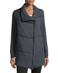 Spiewak | Gray Delano Cotton-Blend Asymmetric Jacket | Lyst