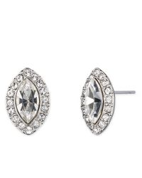 Givenchy - Metallic Clear Navette Button Srud Earrings - Lyst