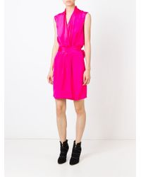 Unconditional - Pink Short Wrap Dress - Lyst
