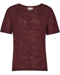 Reiss | Brown Adi Textured Jersey T-shirt | Lyst