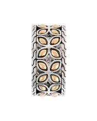 John Hardy | Metallic Classic Chain Flat Twisted Slim Band Ring | Lyst
