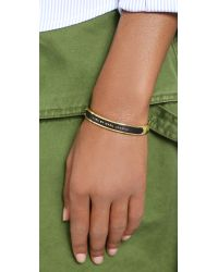 Marc By Marc Jacobs - Enamel Id Katie Bangle Bracelet - Black - Lyst