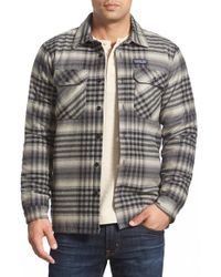 Patagonia | Black 'fjord' Flannel Shirt Jacket for Men | Lyst