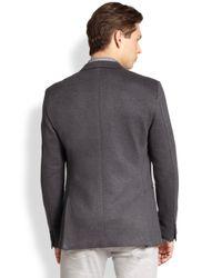 Theory - Gray Stirling Knit Blazer for Men - Lyst