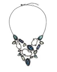 Alexis Bittar | Blue Elements Dark Alchemy Hematite, Pyrite & Crystal Confetti Bib Necklace | Lyst