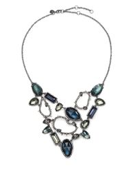 Alexis Bittar | Blue Elements Dark Alchemy Hematite, Pyrite & Crystal Confetti Bib Necklace | Lyst