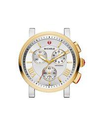 Michele - Metallic 'sport Sail - Large' Black Dial Watch Case - Lyst