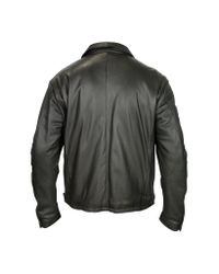 FORZIERI | Men's Black Leather Zip Jacket for Men | Lyst