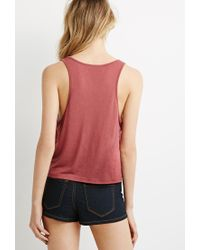 Forever 21 | Pink Scoop Neck Tank | Lyst