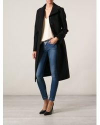 Dolce & Gabbana - Black Single Breasted Coat - Lyst