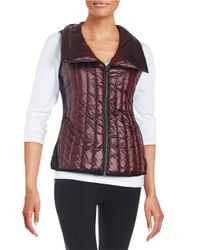Calvin Klein | Red Quilted Down Vest | Lyst