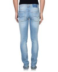 Guess - Blue Denim Trousers for Men - Lyst