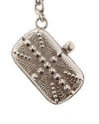 Alexander McQueen - Metallic Britannia Key Ring - Lyst