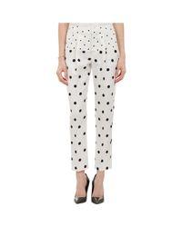 Wayne - Multicolor Dot-Pattern Pleated Trousers - Lyst