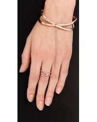 Gorjana | Metallic Elea Ring To Wrist Cuff Bracelet  Rose Gold | Lyst